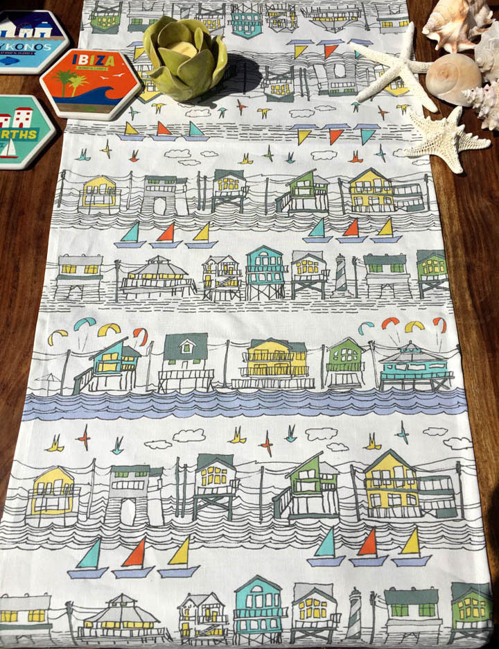 Houses of Hatteras Table Runner.