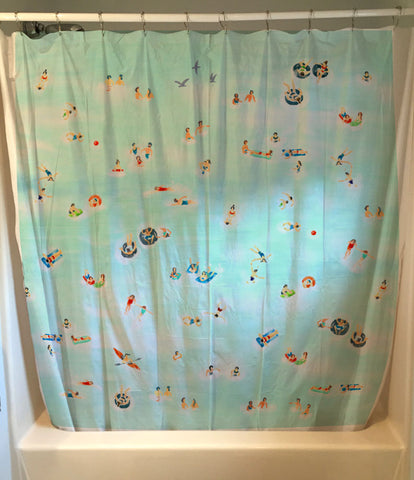 Bathers Shower Curtain