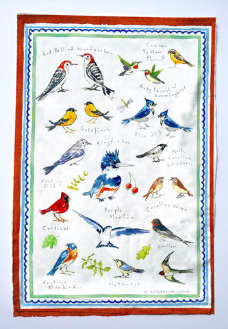 Birds of my Garden T Towels