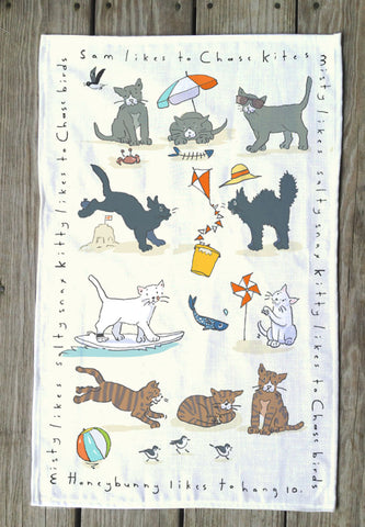 Kitty Cat T Towels