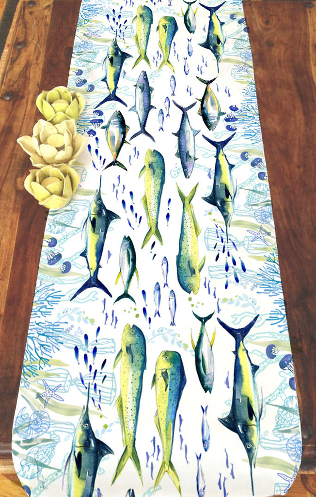 Deep Sea Fishing Table Runner