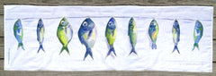 Fish on the Line Table Runner