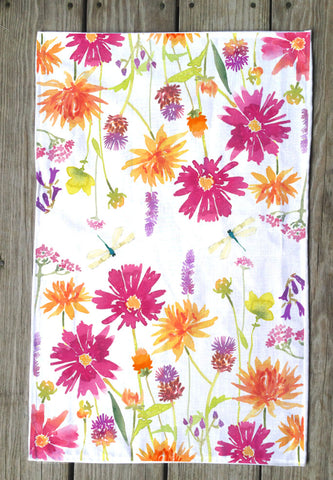 English floral T Towel