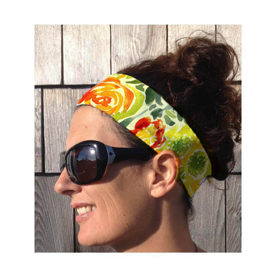 Watercolor floral Head Band