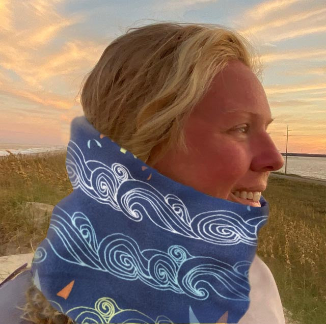 Kiteboarding Reversible fleece Neck warmer.