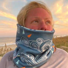 Windsurfing Reversible fleece Neck warmer.