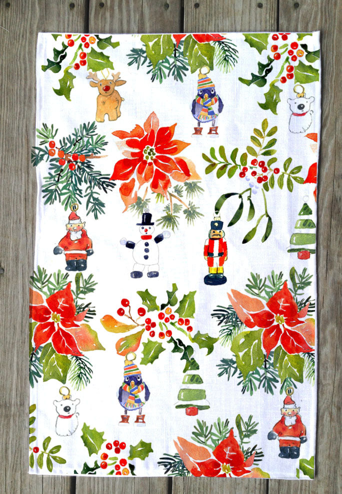 Jolly Holly Days T Towel