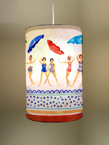 Beach Babes Fabric Lampshade