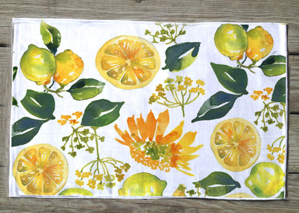 Lemon and sunflower Placemat