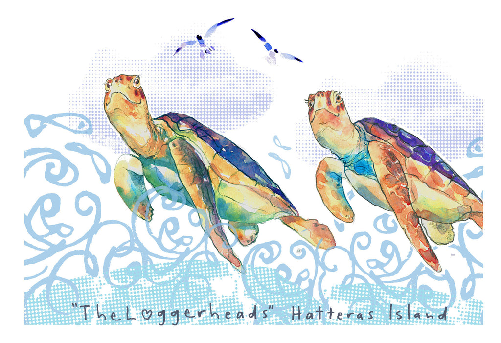 Mr and Mrs Loggerhead Print