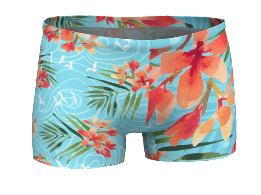 Powder Pink Tropical Sporty Shorts