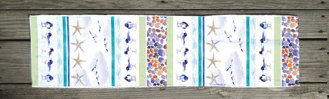 Bird and Pebble table Runner (By the yard)