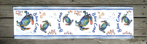 Blue Crab Table Runner (By the yard)