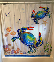 Blue Crab Shower Curtain