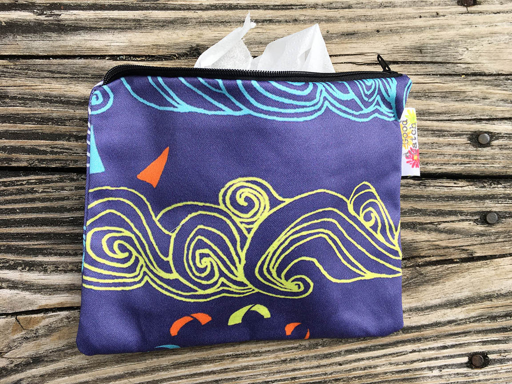 Indigo Blue Wave Wallet