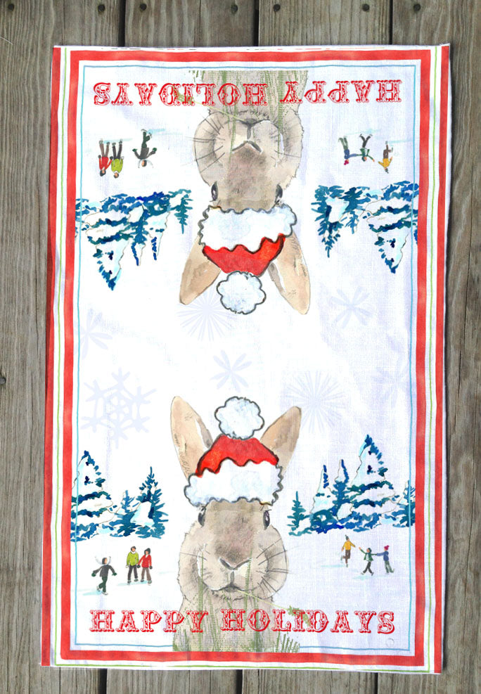 Hoppy Holidays T Towel