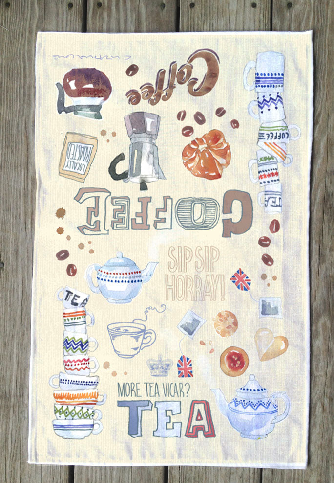Tea and Coffee T Towel