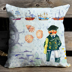 Salty Fishermen Pillow