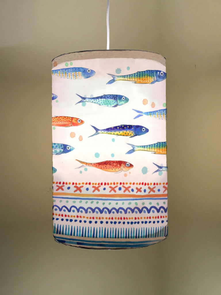 Funky Fish Fabric Lampshade