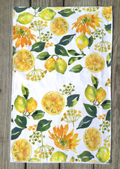 Lemon and Sunflower T Towels