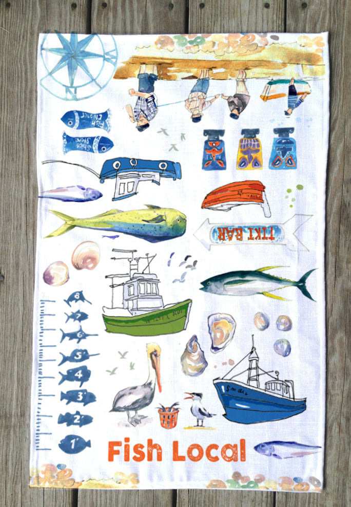 Fish Local T Towels