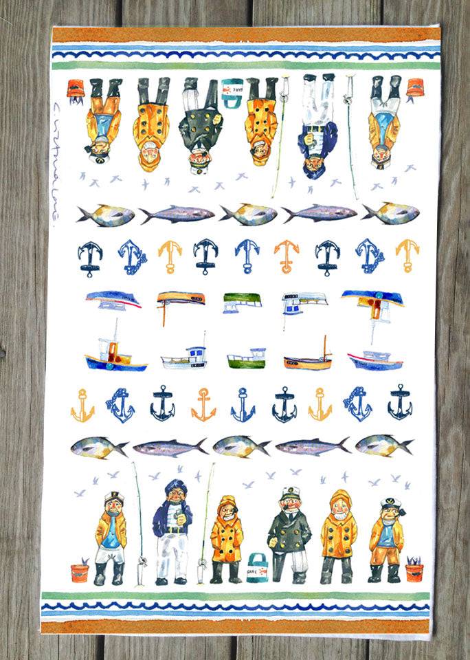 Salty Sailor T Towels