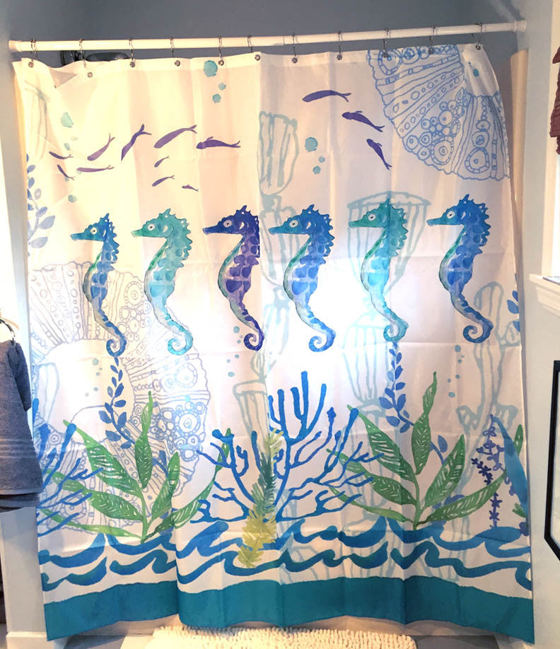 Seahorse Shower Curtain Agoodcatch
