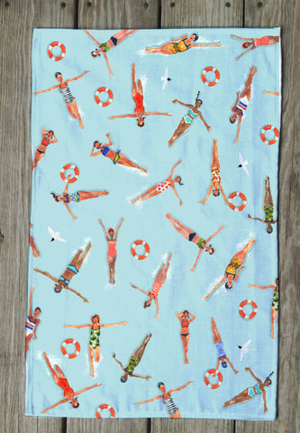 swimmers Tea Towels