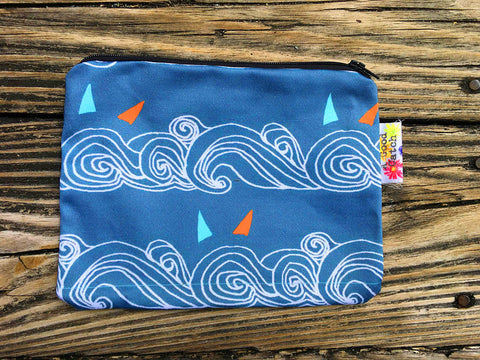 Deep Teal Wave Wallet.
