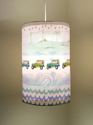 Woodies Fabric Lampshade