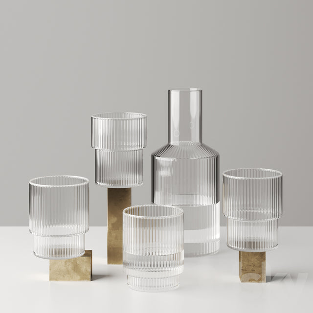 ripples glasses ferm living