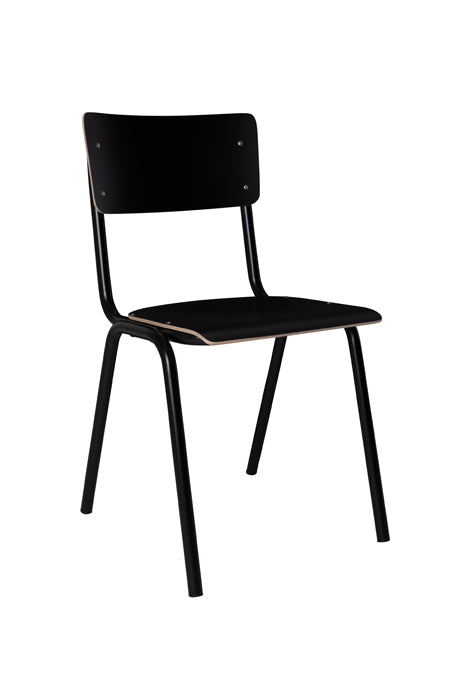 Back to School Chair Black (Pack of 4) - Paris-Sete