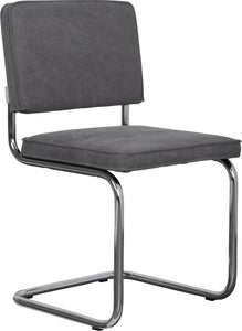 Ridge Vintage Chair Chrome Grey (Pack of 2)