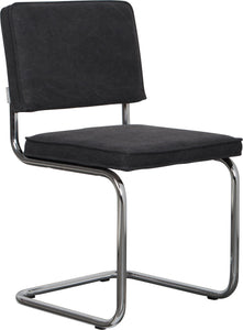 Ridge Vintage Chair Chrome Charcoal (Pack of 2)