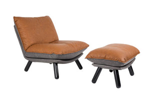 Lazy Sack Lounge Chair & Hocker