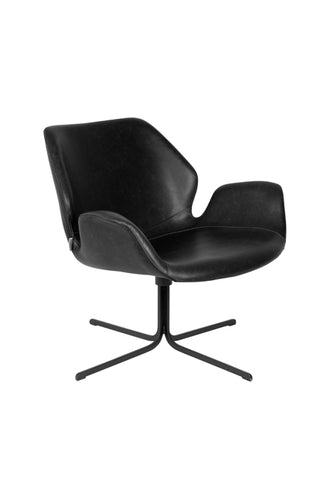 Nikki Lounge Chair Black