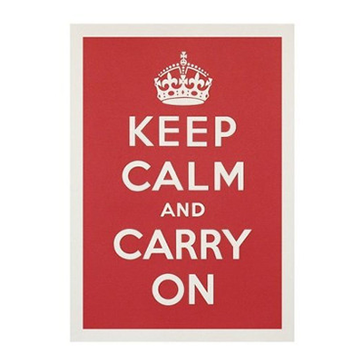 Poster Keep Calm and Carry On - Paris-Sete