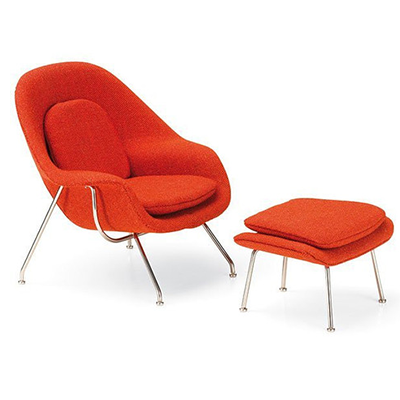 Womb Chair & Ottoman (Miniatura) - Paris-Sete