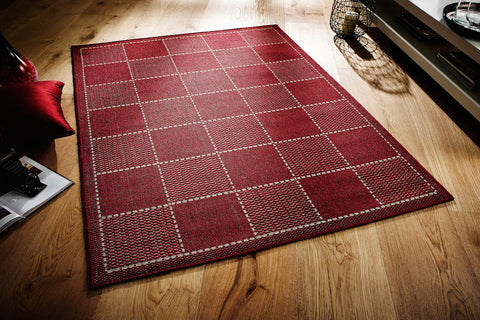 Checked Flatweave Red