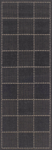 Checked Flatweave Black