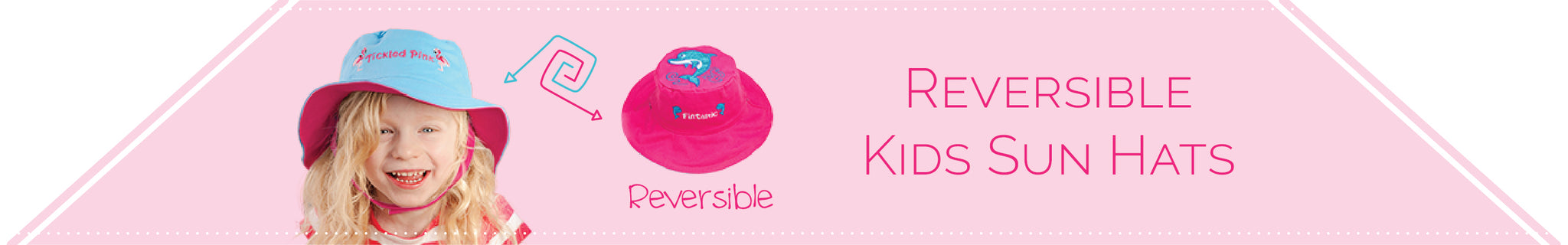 Reversible Kids Sun Hats