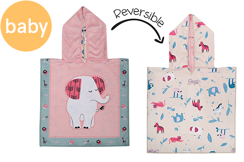 Reversible Baby Cover Up - Elephant | Zoo (one size only)