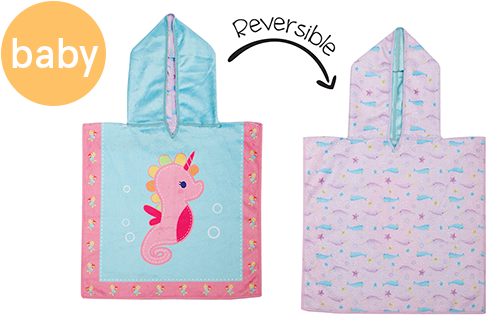 Reversible Baby Cover Up - Seahorse | Narwhal (one size only)