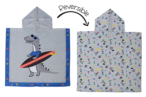 Reversible Kids Cover Up - Dino