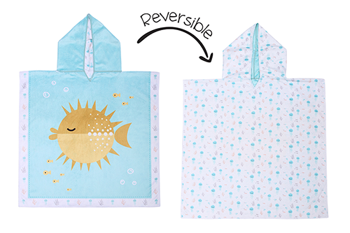 Reversible Kids Cover Up - Fish | Jellyfish