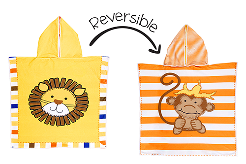 Reversible Kids Cover Up – Lion | Monkey