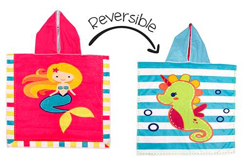 Reversible Kids Cover Up – Mermaid | Seahorse