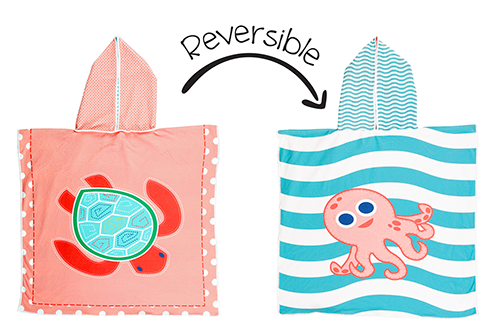 Reversible Kids Cover Up – Pink Octopus | Sea Turtle
