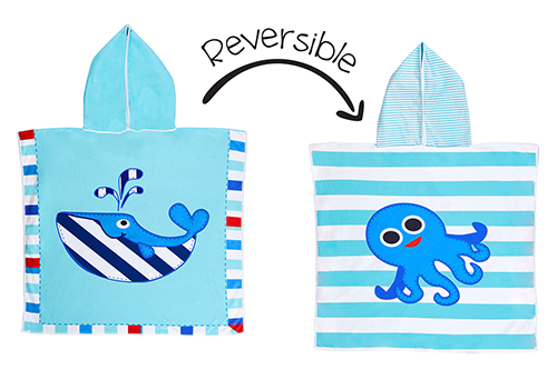 Reversible Kids Cover Up – Whale | Octopus