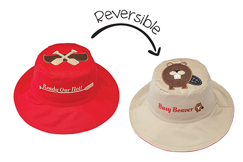 Reversible Kids & Toddler Sun Hat – Canoe & Beaver